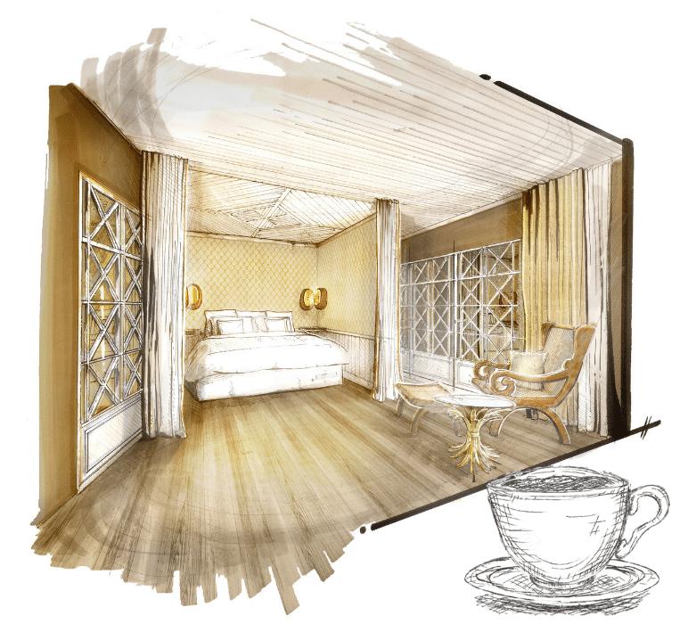 Chambres grand hotel du soleil d'or Megeve