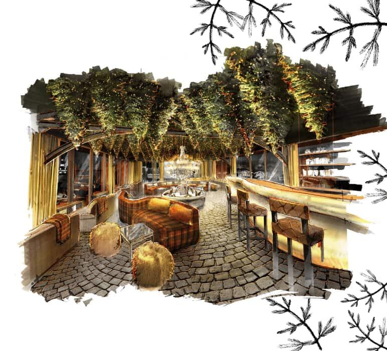 Cocktail bar and restaurant of the Grand Hôtel du Soleil d'Or