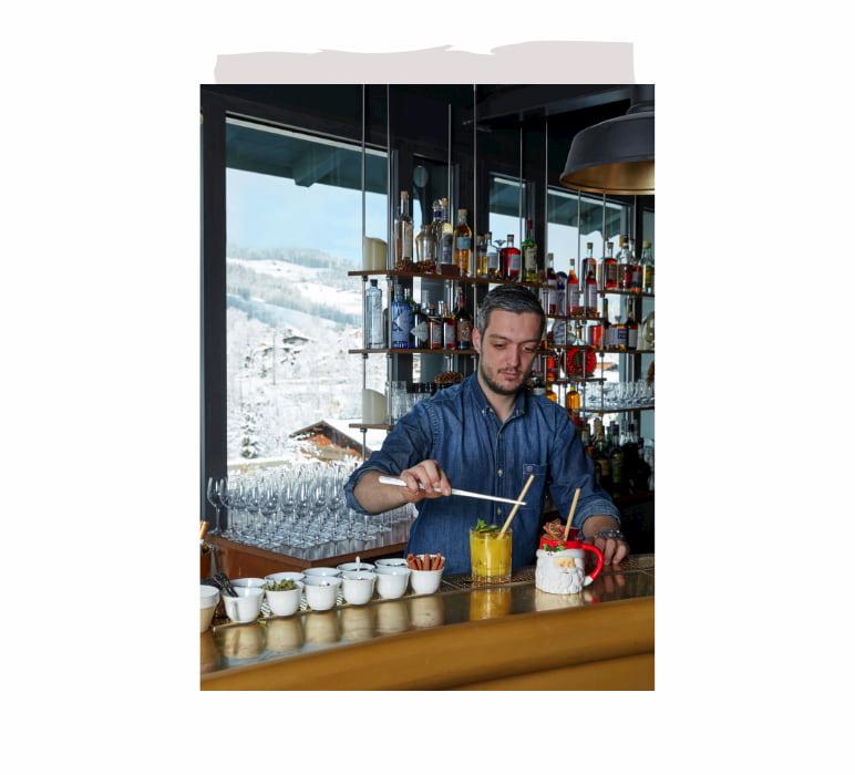 Bar à cocktail panoramique à Megève