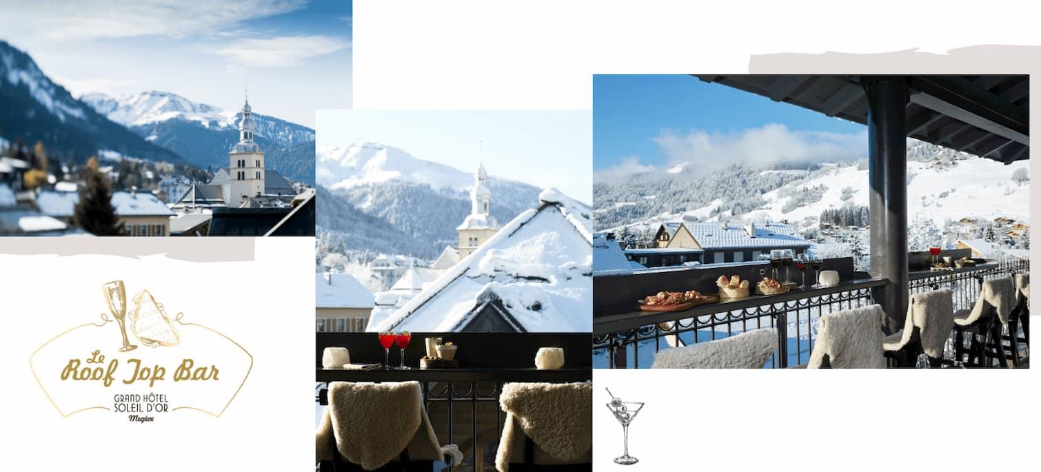 Hotel bar à Megève
