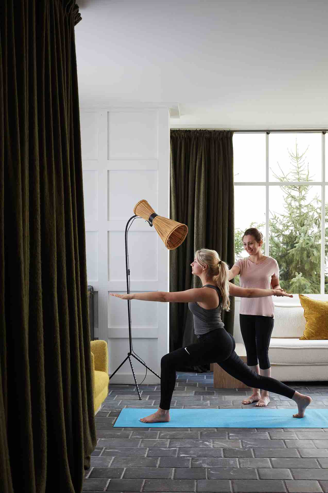 yoga chalet luxe megeve